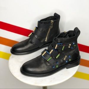 NEW Zadig & Voltaire laureen spike colorful boots